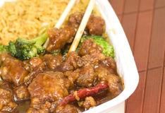 Chinese take out dinner Stock Photography