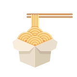 Chinese take out noodles Royalty Free Stock Photo