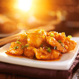 chinese take out sesame chicken Royalty Free Stock Images
