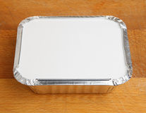 Chinese Takeaway Food Container. Chinese takeaway food in foil tray Royalty Free Stock Image