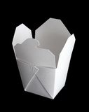 Chinese takeout box. Isolated on black Royalty Free Stock Photo