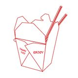 Chinese takeout box Stock Images