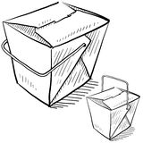 Chinese takeout boxes Royalty Free Stock Image