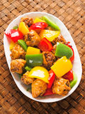 Chinese takeout sweet and sour pork Stock Photo