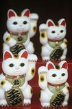 Chinese talisman cat figurines Royalty Free Stock Photos