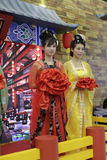 Chinese tang dynasty women's clothing Royalty Free Stock Images