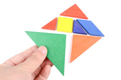 Chinese tangram royalty free stock photos
