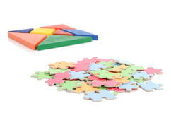 Chinese tangram and puzzle Stock Photo