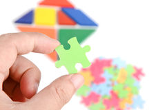 Chinese tangram and puzzle Royalty Free Stock Photos