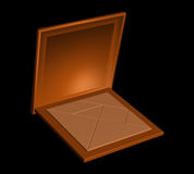 Chinese tangram puzzle in a wooden box Stock Image