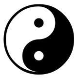 Chinese Tao symbol. Closeup of Chinese Tao symbol on white background Stock Photography