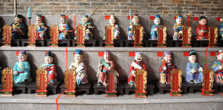Chinese taoist sculpture. Many typical taoist sculpture in a temple royalty free stock image