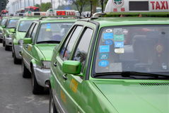 Chinese Taxis Royalty Free Stock Photography