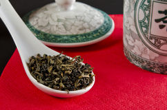 Chinese tea. Tea is an aromatic beverage prepared by adding cured leaves of the Camellia sinensis plant to hot water Royalty Free Stock Photography