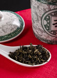 Chinese tea. Tea is an aromatic beverage prepared by adding cured leaves of the Camellia sinensis plant to hot water Stock Photography