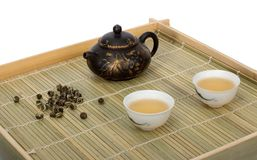 Chinese tea. Still-life about chinese tea ceremony in the morning. Isolated Royalty Free Stock Photos