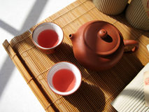 Chinese tea. A art of Chinese tea, culture healthy drinks in China Royalty Free Stock Photos