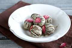 Chinese tea  the balls in a bowl Stock Image