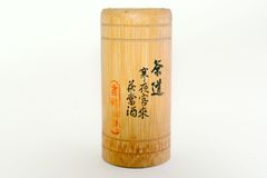 Chinese tea bamboo tube Stock Photos