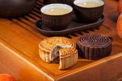 Chinese tea and cakes Stock Photo