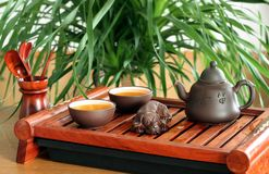 Chinese tea ceremony. Still-life about chinese tea ceremony in the morning Stock Photo