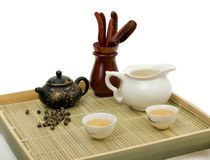 Chinese tea ceremony. Still-life about chinese tea ceremony in the morning. Isolated Stock Images