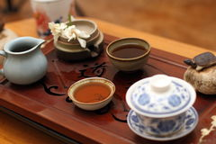 Chinese tea ceremony Stock Images