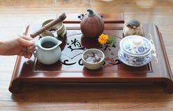 Chinese tea ceremony. Leisure lifestyle Stock Image