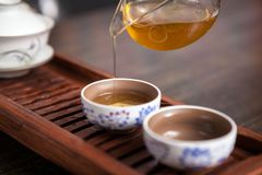 Chinese tea ceremony set. This is Chinese tea ceremony set royalty free stock photos