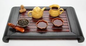 Chinese tea ceremony table Royalty Free Stock Image