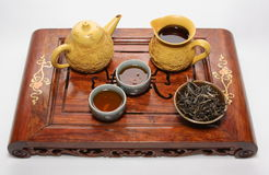 Chinese tea ceremony table Stock Image