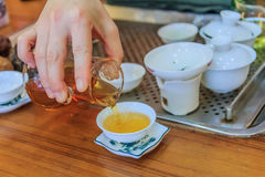 Chinese tea ceremony Stock Image
