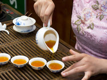 Chinese tea culture. Sense of love for Chinese culture and leisure time tea Royalty Free Stock Photography