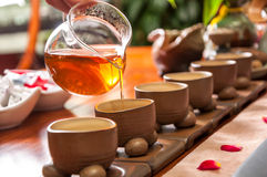 Chinese tea culture. The tea process Stock Photos