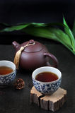 Chinese Tea Cup with Tea Pot Royalty Free Stock Photography