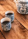 Chinese tea cups. stock images