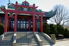 Chinese Tea House. Front of Chinese Tea House Royalty Free Stock Photos