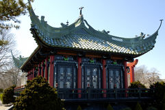 Chinese Tea House. A chinese tea house, with a green roof Stock Photo