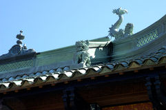 Chinese Tea House roof. The roof of a chinese tea house Stock Images