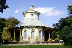 Chinese tea house of Sanssouci in Potsdam. In the castle grounds visited by tourists Royalty Free Stock Photos