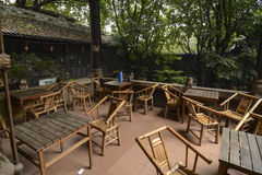 Chinese tea house. In Sichuan,China stock image