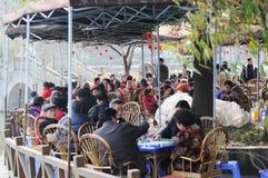 Chinese tea house on soundays Royalty Free Stock Photo