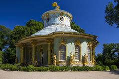 Chinese tea house from 18th century, part of Sanssouci park. Potsdam, Germany - July 1, 2015: Chinese tea house from 18th century, part of Sanssouci park Stock Photography