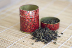 Chinese tea leaves Stock Images
