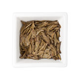 Chinese tea - Longjing tea leaves Royalty Free Stock Images