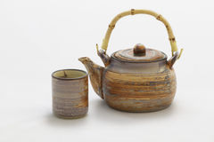 Chinese tea pot and cup Stock Images