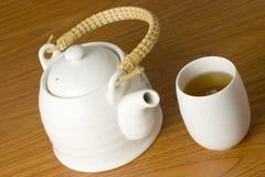 Chinese tea pot and cup Stock Photos
