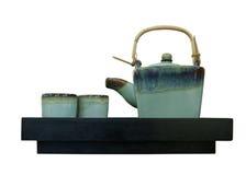 Chinese tea pot isolated white background Royalty Free Stock Photos