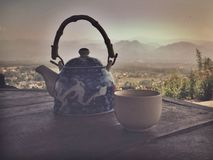 Chinese tea pot in Pai,Thailand Royalty Free Stock Photo
