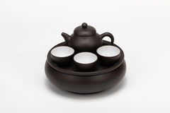 Chinese tea pot set Royalty Free Stock Image